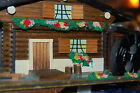 Wooden Hand Made 1960's vtg.Japan Swiss Chalet music jewelry box hand decorated