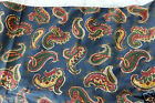 Laura Ashley Blue, Green, Red & Yellow Paisley Bed Skirt/Dust Ruffle, Queen Size