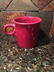 Fiesta CINNABAR Burgandy MAROON Coffee Cup MUG Tom Jerry Fiestaware Retired