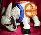 Vintage Ceramic Donkey Planter Figurine Barnyard Hand Painted Occupied Japan