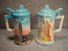 c.1940s New York City Ceramic Beer Stein Salt and Pepper Shakers