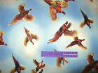 James Meger Pheasant Country Sky Cloud Bird Fly Cotton Fabric By The Half Yard
