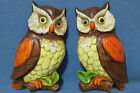 Vintage Pair of Owls on Branches Wall Decor Plaques Made in Japan 7
