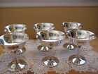 RARE BEAUTIFUL SET OF 6 DE UBERTI SILVER ITALY ITALIAN GOBLETS CUPS, 4 1/2