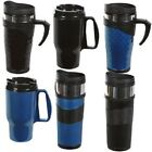 16OZ THERMAL TRAVEL MUG CUP WITH LID - REUSABLE - LEAKPROOF - BLACK