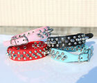 New Punk Spiked Studded Dog Collars Cool Rivets Comfortable PU Leather Chihuahua