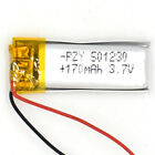 3.7V 170 mAh Li-polymer Rechargeable Battery  051230 for PDA bluetooth mp3 mp4
