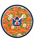NCAA Auburn Tigers Round Traditional Wall Clock Floral Design Kate Mcrostie