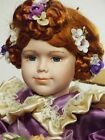 Doll Porcelain Redhead Blue Eyes 16 InchesTall Beautiful Victorian Style Ages 6+