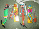 2 VINTAGE BENDABLE CHARACTER FIGURES  COWBOY/ INDIAN,  TWIST AND BEND NIB'S