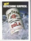 Vintage 1985 Jim Beam Kentucky Whisky and Cola print ad     Great to Frame!