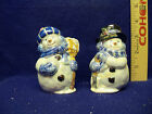 * VINTAGE ELEGANT MR. & MRS. SNOWMAN SALT & PEPPER SHAKERS