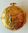 triple case 18k gold verge fusee pocket watch- montre coq en or 3 boitiers