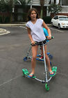 3 Wheel Frog Scooter Green Tricycle Kick Scooter Trike Scooter Frog Preled Ski