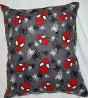 NEW HANDMADE MARVEL THE AMAZING SPIDERMAN FLANNEL TRAVEL SNUGGLE PILLOW