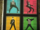 Elvis Jailhouse Rock  8  Pillow Squares Two Of  Each Color   VIP CRANSTON  OOP