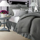 Chaps Home Allistair 3-pc. Full/Queen Reversible Duvet Cover Set NEW  GRAY Strip