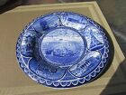Vintage flow blue transfer ironstone Staffordshire R & M Co Plymouth Rock Mass.