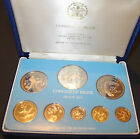 1975 PROOF COINAGE OF BELIZE 8 COIN COLLECTOR SET/MINTED Franklin Mint