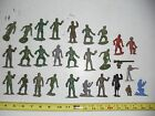 OLD VINTAGE TOY SOLDIERS ARMY MEN COWBOYS PIRATE HARD RUBBER 2 1/2