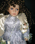COLLECTORS VINTAGE PORCELAIN VICTORIAN DOLL , GORGEOUS HAIR, CLOTHES AND DETAIL