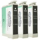 3 Remanufactured Black Ink Cartridges for Epson NX305 NX400 NX415 / #88