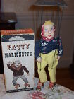 RARE 1950's Peter Puppet Playthings PATTY THE MARIONETTE w/ Uni-Control and Box