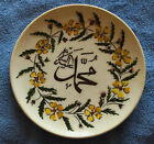 Antique 1950s Turkish Turkey Hand Painted Pottery Plate