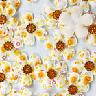 Bulk 10pcs Padded Felt Flower Rhinestone Appliques Cloth Applique For Bows Hot