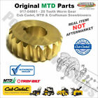 917-04861 -20 Tooth Worm Gear for Cub Cadet