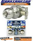 Constructor Privacy SS Finish Knob Handle Set Chronos Door Lever Lock Set