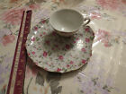 4 Lefton China tea cups & dessert plates dishes vintage old antique Rose flower