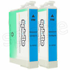 2 Remanufactured Cyan Ink Cartridges for Epson Stylus Photo R260 R280 / #78