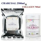 Charcoal 2500ml & Collagen 700ml Powder Masque Anti-aging & Moisturizing & Pore