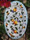 TUSCAN FRUIT Italian Pottery Oval Platter WALL PLATE ~ Made in Tuscany