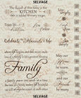Quotes for Baby, Home, Faith, Friendship, & Family Cotton Fabric Wall Hangings!