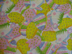 1 yard Easter/ Spring Bunnies, Eggs, Chicks & Flowers 100% Cotton Fabric