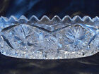 Clear Brilliant Cut Glass 2 Handled  Relish Dish / Serving Bowl -  Early 1900s