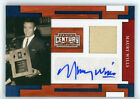 2010 Panini Century Collection MAURY WILLS Autograph #9 20 Jersey Relic Auto