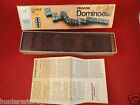 Dragon Double Six Dominoes 1970 Milton Bradley HALSAM 28 DOMINOES #4130 BROWN