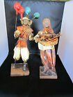 Vintage Paper Mache Doll/Figurine, Mexican Man with Balloons, Woman with Peppers