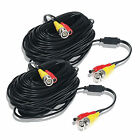 2 pcs 100 ft Dual Video Power Cable for CCTV Surveillance Video Security System