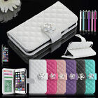 Bling Luxury Leather Flip Wallet Pouch Case Stand Cover For Apple iPhone 6 4.7