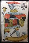 Authentic 18thc. Rare Antique Poker Playing Card Hand Color Stenciled Scarce