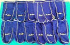One Dozen(12)Large Vintage Seagram's Crown Royal Bags For Hobbies Crafts Quilts