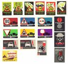 19 Authentic Soviet Latvia USSR Matchbox Labels TRAFFIC ROAD SAFETY