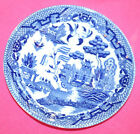 BLUE WILLOW SAUCERS-5 PLATES-VINTAGE-SIGNED JAPAN-EXCELLENT VINTAGE CONDITION