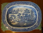 Large And Early 19th Century Blue Willow Platter, Excellent Condition!