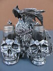 Dragon and Skulls salt and pepper shaker set