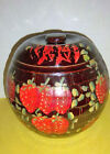 VINTAGE McCOY HONEYCOMB  BALL SHAPED COOKIE JAR WITH HAND PAINTED STRAWBERRIES